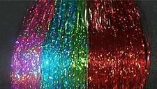 "240 Strand, 6 Colors, 40"" Spakle Hair Tinsel,Shimmer, Beauty,Styling Dance Wear"