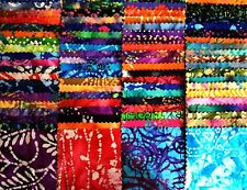 "100 Assorted BATIK pre cut charm pack 5"" squares 100% cotton fabric quilt"