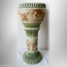 Roseville Donatello art pottery jardiniere and pedestal FREE SHIPPING