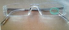 !!! CLEAR  CRYSTALS with Swarovski Elements  READING  GLASSES- GOLD  2.75 !!!
