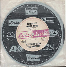 RAY BROWN and the WHISPERS Tennessee Waltz Song / I Am What I Am 45