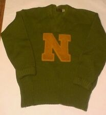 "Rare 1930s Norman ""Boots"" Kukuk NMU Lettermans Hockey Sweater Cleveland Barons"