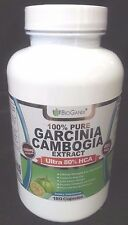 #1 Rated 80% HCA Pure Garcinia Cambogia Extract (180 Capsules) Best Ultra Pot...