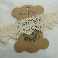 2yd Antique St Scalloped Embroidery Cotton Fabric Crochet Lace Trim 4cm wide