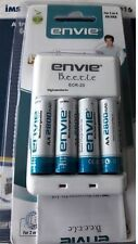 Envie 2800mAh AA (4nos) Ni-MH Rechargeable Battery + Bettle Charger