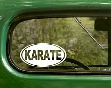 Karate Decal Sticker Martial Arts 2 Ovals Vinyl Die Cut, Bumper, Car, Laptop