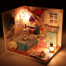 DIY Handcraft Miniature Project Kit Dolls House LED Lights My Room Little House2
