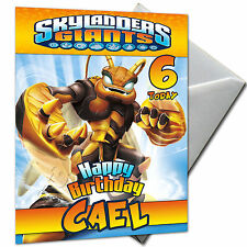 Skylanders Giants-personnalisé Carte Anniversaire Grand A5 + enveloppe