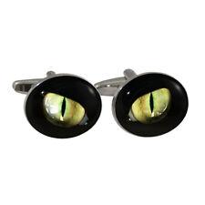 Gatto Nero Orbite Ovale gemelli camicia in confezione regalo Fortuna Felino
