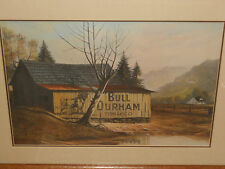 Russell May Bull Durham Tobacco Barn Framed Signed Numbered Print 1790/2000