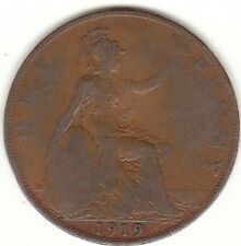 1919 KING GEORGIVS V ONE PENNY 1d - COIN HUNT