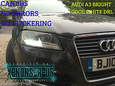 H16 Par Audi A3 Led Xenon Blanco Drl sidelight bombillas ps19w 5202 Psx24w 9009
