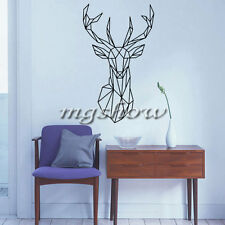 Geometric Deer Head Room Wall Decal Art Stickers Mural Home Vinyl Family Quote