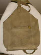 Vintage Coach Sonoma flat pack US made one strap bag taupe pebbbled suede