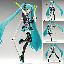 "Anime VOCALOID Hatsune Miku 15cm/6"" Action Figma Figure Kids Toy Doll New In box"