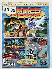 NEW - Games 4 Boys PC CD-ROM Premium Casual Games by Mumbo Jumbo (sealed)