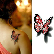 3D Bright Butterfly Temporary Tattoos Fake Tatoo Sticker Body Art Makeup Women
