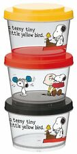 Peanuts Snoopy Tupperware Lunch Container 240ml x 3 Japan