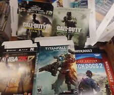 Lot of Video-game Store Advertisements Call of Duty, Watch Dogs 2, NBA2k17
