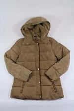 ZARA KIDS GIRLS GOLD BROWN PUFFA COAT W/ PIPING HOOD 13-14 YEARS REF 6398/711