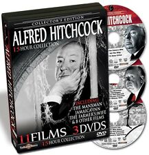 Alfred Hitchcock:  11Films on 3DVDs - New!