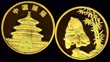 RARE ●●● PLAQUEE OR ● MEDAILLE AVEC PANDAS (TYPE 2) ●●● FDC UNC