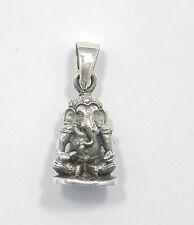 Ganesha, Hindu Gottheit, Symbol für Glück und Erfolg 925 Sterling Silber, 2,5 cm