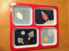 Circo Square Children's Divided Portion Control Plate Spaceship Theme