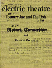 FILMORE ERA Electric Theatre HANDBILL Country Joe & Fish  1968 Chicago