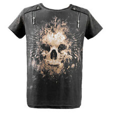 Deceased Departure T-Shirt XLarge - Cotton Blend, Graphic Tee, Gray, Punkrave
