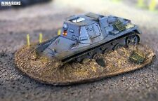 Minairons 1:72 scenery - Bailed out tank - 20mm Spanish Civil War, WWII