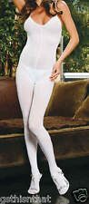 Bodystocking Plus White Slimming Opaque Hosiery NWT Queen Size 1X-2X-3X E1601Q