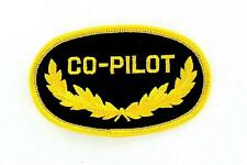 Patch patches embroidered co pilot gold wings aircraft avion plane aviation