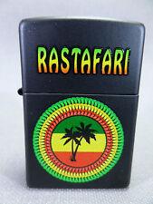 """Zippo  """"RASTAFARI"""" - black matt - NEU & ovp - # 930"""
