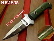 OZAIR CUSTOM MADE STILETTO PUGIO DAGGER KNIFE 420 SS BLADE KNIFE HH-1835