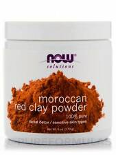 Moroccan Red Clay Powder mask 6 oz (170 Grams)for Sensitive Skin by NOW Solution