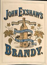 JOHN EXSHAW'S BRANDY  AU DOS : J&F MARTELL COGNAC AND OLD BRANDY 1875
