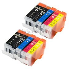 10x TINTE DRUCKER PATRONENSET IP4200 IP4200X IP4300 MP970 MX700 MX850 IP3300 Set