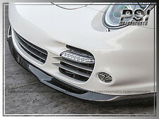 TECH A Type CARBON FIBER FRONT BUMPER LIP FOR PORSCHE 911 997 Turbo 2006-2012 CF