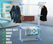 Extra Large Clothes Airer - 3 Tier Indoor Outdoor Laundry Dryer Rack Foldable
