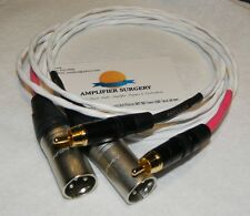 10FT RCA to BALANCED MALE XLR SILVER-PLATED AUDIO INTERCONNECT SIGNAL CABLE USA
