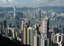 HONG KONG SKYLINE CITYSCAPE POSTER STYLE D 26x36 HI RES