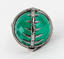 Stephen Webster Fish skeleton ring w/ green chrysoprase stone size 6