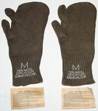 UNISSUED KOREAN WAR M-1948 WOOL TRIGGER FINGER MITTENS W/ PAPER INSTRUCTIONS
