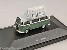 Schuco VOLKSWAGEN T2a CAMPER in Green / White 1/87 scale model