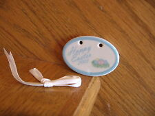 Longaberger Happy Easter Egg Tie-On 2003 oval pastel blue New *free shipping!*