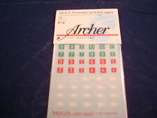 ARCHER FINE TRANSFERS 1ST AD FORMATION AND AOS SIGNS AR35150 1:35
