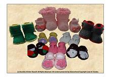 Crochet Pattern: Baby/Reborn footwear 2 styles/sizes MPN CRO135 Frandor Formats