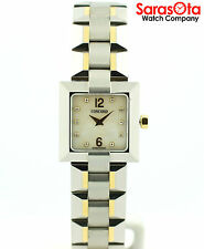 Concord La Scala 18K/Stainless Steel MOP Diamond Dial Square Dress Women's Watch