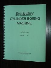 Kwik Way Model F Boring Bar Instruction Manual